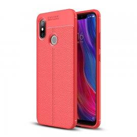 Funda Xiaomi MI 8 SE Tpu Cuero 3D Roja