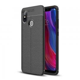 Funda Xiaomi MI 8 SE Tpu Cuero 3D Negra