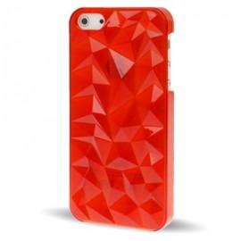 Carcasa Iphone 5 Cristal 3D Roja