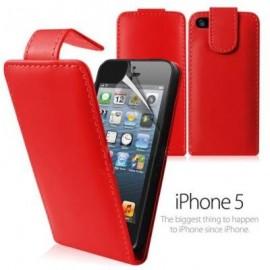 Funda Iphone 5 cuero Roja Vit