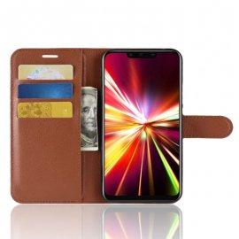 Funda cuero Flip Huawei Mate 20 Lite Marron