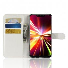 Funda cuero Flip Huawei Mate 20 Lite Blanca
