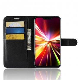Funda cuero Flip Huawei Mate 20 Lite Negra