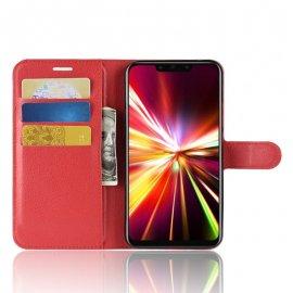Funda cuero Flip Huawei Mate 20 Lite Roja