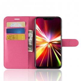 Funda cuero Flip Huawei Mate 20 Lite Fucsia