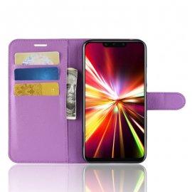Funda cuero Flip Huawei Mate 20 Lite Lila