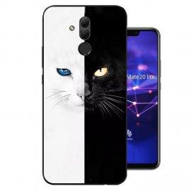 Funda Huawei Mate 20 Lite Gel Dibujo Negro y Blanco