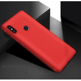 Funda Gel Xiaomi Note 6 Flexible y lavable Mate Roja