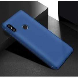 Funda Gel Xiaomi Note 6 Flexible y lavable Mate Azul
