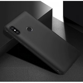 Funda Gel Xiaomi Note 6 Flexible y lavable Mate Negra