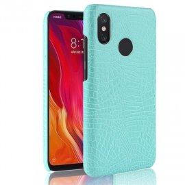 Carcasa Xiaomi Note 6 Cuero Estilo Croco Turquesa