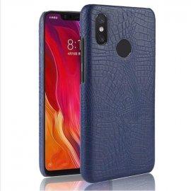 Carcasa Xiaomi Note 6 Cuero Estilo Croco Azul