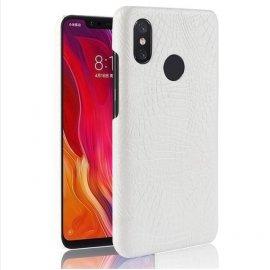 Carcasa Xiaomi Note 6 Cuero Estilo Croco Blanca