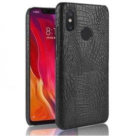 Carcasa Xiaomi Note 6 Cuero Estilo Croco Negra