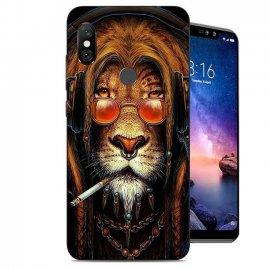 Funda Xiaomi Redmi Note 6 Gel Dibujo Leon Cool