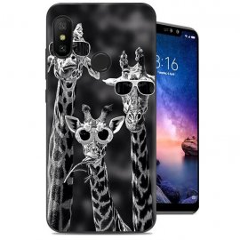 Funda Xiaomi Redmi Note 6 Gel Dibujo Girafas