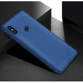 Funda Gel Xiaomi Note 6 Pro Flexible y lavable Mate Azul