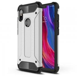 Funda Xiaomi Redmi Note 6 Pro Shock Resistante Gris Plata