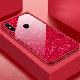 Funda Xiaomi Redmi Note 6 Pro Tpu Roja Trasera Cristal