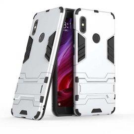 Funda Xiaomi Redmi Note 6 Pro Shock TREX Resistante Gris Plata