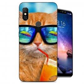 Funda Xiaomi Redmi Note 6 Pro Gel Dibujo Gato Cool