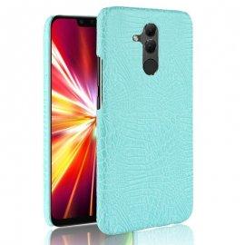 Carcasa Huawei Mate 20 Lite Cuero Estilo Croco Turquesa
