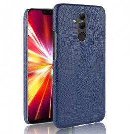 Carcasa Huawei Mate 20 Lite Cuero Estilo Croco Azul
