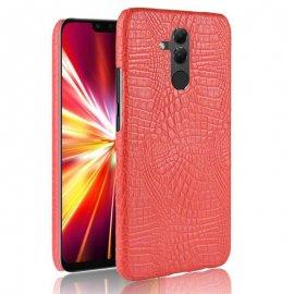 Carcasa Huawei Mate 20 Lite Cuero Estilo Croco Roja