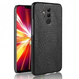 Carcasa Huawei Mate 20 Lite Cuero Estilo Croco Negra