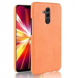 Carcasa Huawei Mate 20 Lite Cuero Estilo Croco Naranja