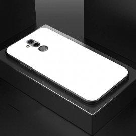 Funda Huawei Mate 20 Lite Silicone con trasera Cristal Templado Blanca