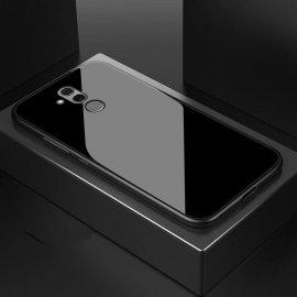 Funda Huawei Mate 20 Lite Silicone con trasera Cristal Templado Negra