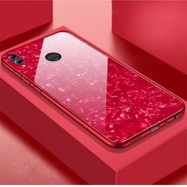 Funda Honor 8X Silicone con trasera Cristal Templado Roja