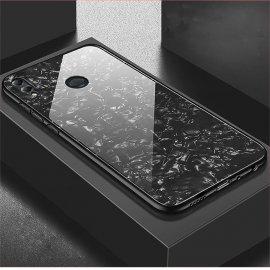 Funda Honor 8X Silicone con trasera Cristal Templado Negro
