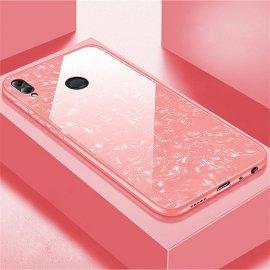 Funda Honor 8X Silicone con trasera Cristal Templado Rosa