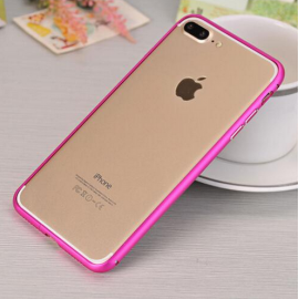 Bumper iphone 7 Plus Aluminio Rosa