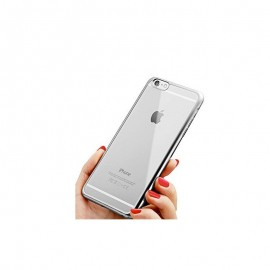 Funda Flexible Iphone 7 Gel con bordes Cromados