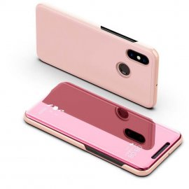 Funda Libro Smart Translucida Xiaomi Redmi Note 6 Pro Rosa