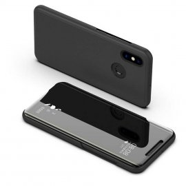 Funda Libro Smart Translucida Xiaomi Redmi Note 6 Pro Negra