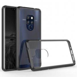Funda Huawei Mate 20 Hybrid Transparente con bordes Negro
