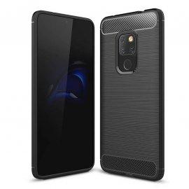 Funda Huawei Mate 20 Gel Hybrida Cepillada Negra