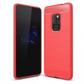 Funda Huawei Mate 20 Gel Hybrida Cepillada Roja