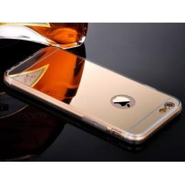 Funda Gel Iphone 6 Espejo Dorada