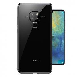 Funda Huawei Mate 20 Gel Transparente con bordes Negro