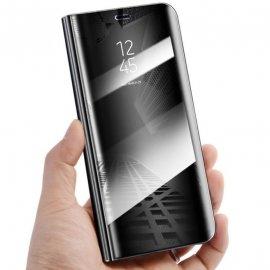 Funda Libro Smart Translucida Huawei Mate 20 Negra