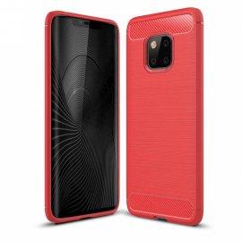 Funda Huawei Mate 20 Pro Gel Hybrida Cepillada Roja
