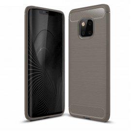 Funda Huawei Mate 20 Pro Gel Hybrida Cepillada Gris