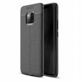 Funda Huawei Mate 20 Pro Tpu Cuero 3D Negra