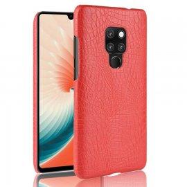 Carcasa Huawei Mate 20 Cuero Estilo Croco Roja