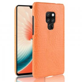 Carcasa Huawei Mate 20 Cuero Estilo Croco Naranja